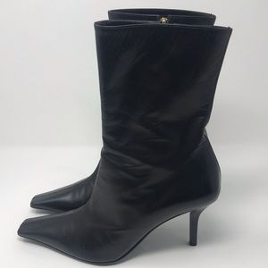 Gucci black square toed booties